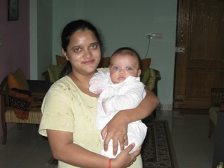 Baby SA, with mamma bags