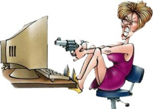 angry-cartoon-woman-seated-shooting-computer1