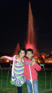 At the Buckingham Fountain